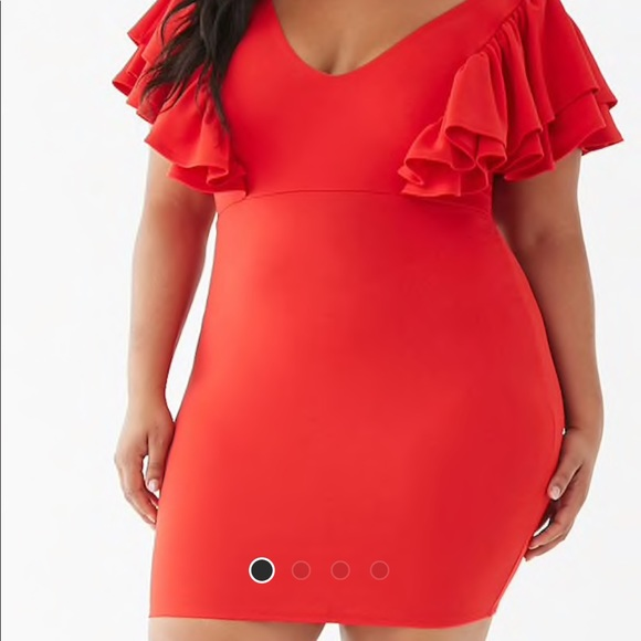 Forever 21 Dresses & Skirts - Plus size ruffle trim mini dress